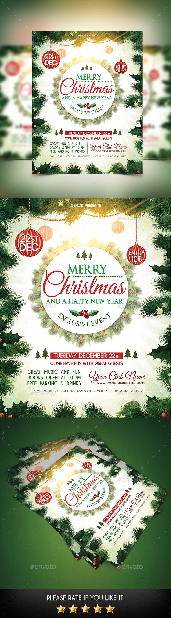 christmas party flyer template psd design xmas download http