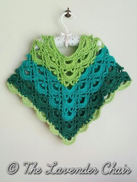 Gemstone Lace Poncho (Toddler/Child) Crochet Pattern | Häkelideen ...