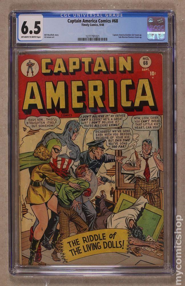 Captain America Comics Golden Age 68 1948 Cgc 6 5 1277791021