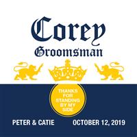 Corona Extra Groomsman Beer Label Beer Birthday Beer Label Groomsmen Beer Labels