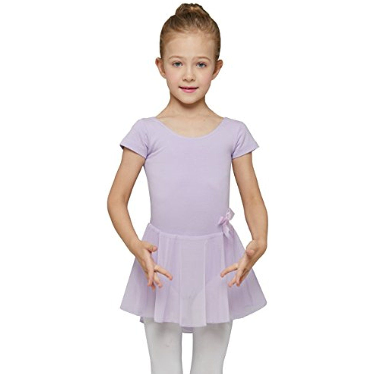 12bcc11ed4a5 Mdnmd Girls  Skirted Short Sleeve Leotard   You can get more details ...