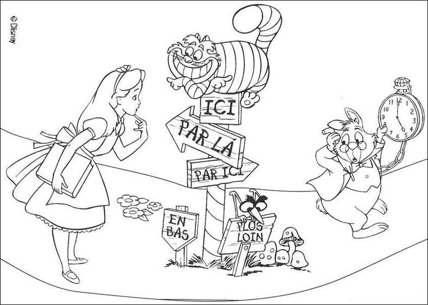 Alice In wonderland Coloring Pages From Disney - Disney Princess ...