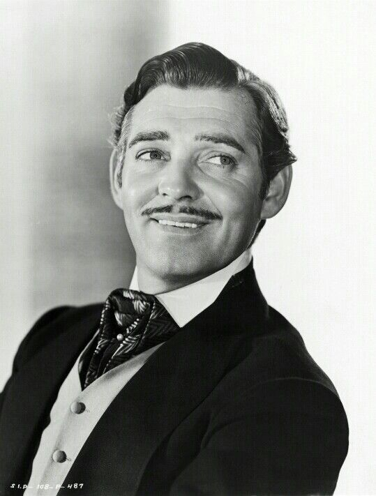 Rhett Butler Gone With The Wind Cool Mustaches Clark Gable Old