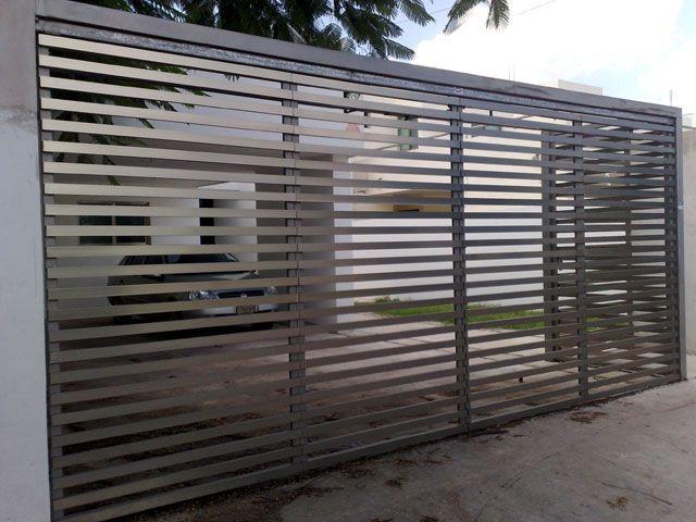 Portones herreria y soldadura chihuahua rejas for Fachadas de garajes modernos