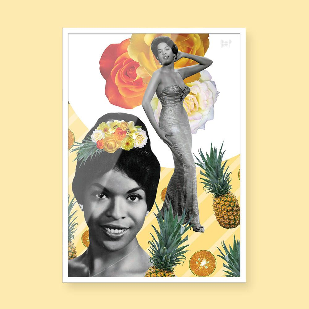 Della Reese - Black Art - Collage Art - Black Girl Magic - Vintage ...