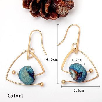 Triangle Shape Dangle Earrings For Women