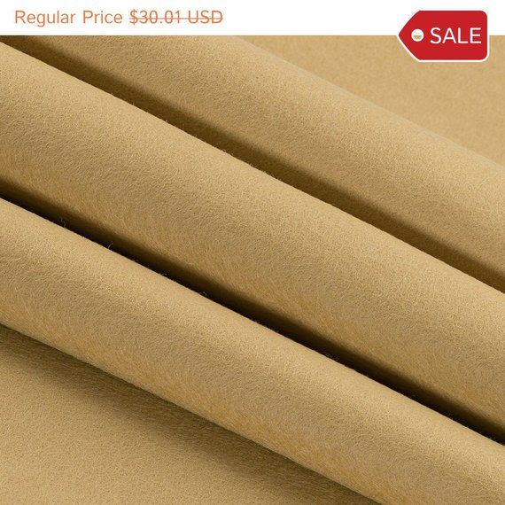 Clearance 100 Wool Felt By Yard Light Brown 1 2mm Thick 63 Wide Limited Stock Availa Wool Felt Wool Crafts Yard Lights