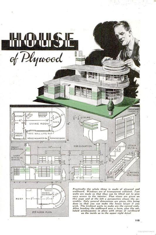 Dollhouse Plans From Popular Mechanics 1937 Miniature Tutorials