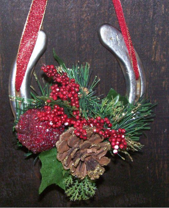 Horseshoe Ornament Western Christmas Decorations Horseshoe
