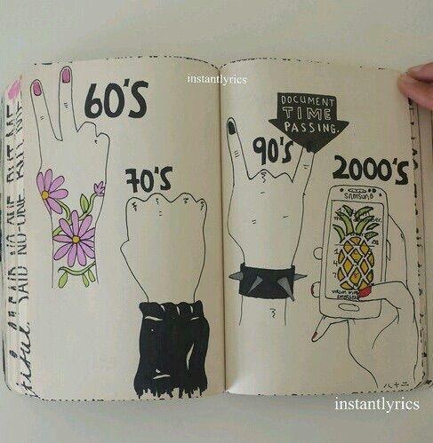 we heart it yoluyla gorsel 90s band concert floral grunge phone punk vintage