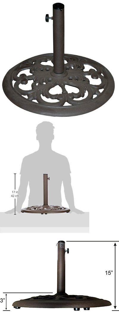 Umbrella Stands 180999 Tropishade 30 Pound Bronze Powder Coated