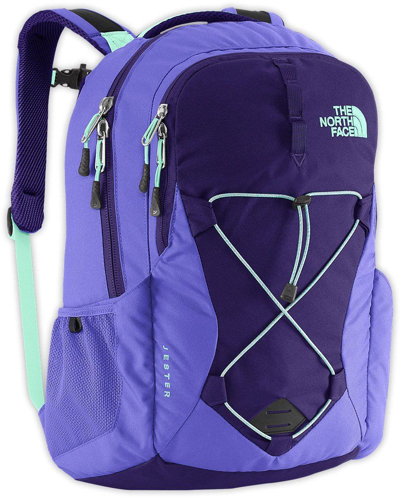 8236dd58a3 The North Face Womens Jester Backpack (Garnet Purple/Surf Green ...
