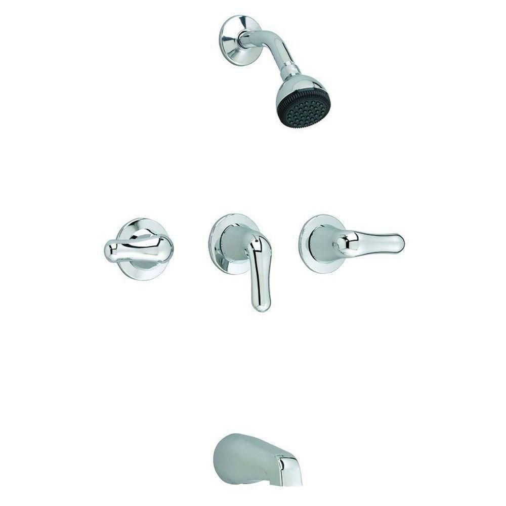 American Standard Colony 3-Handle Single-Spray Tub and Shower Faucet in Polished Chrome 526033