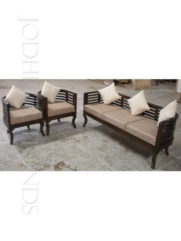 Curvy Sofa Set This Sheesham Wood Sofa Set In Honey Color Is Tailored To