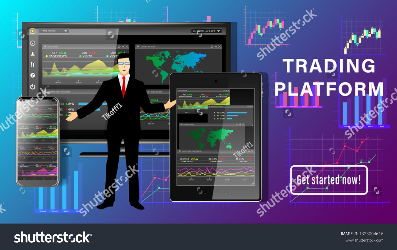 Trading Platform Financial Business Dashboard Desktop