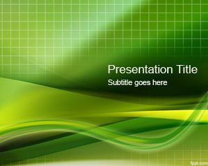 Green Grid PowerPoint Template is a free green abstract template ...