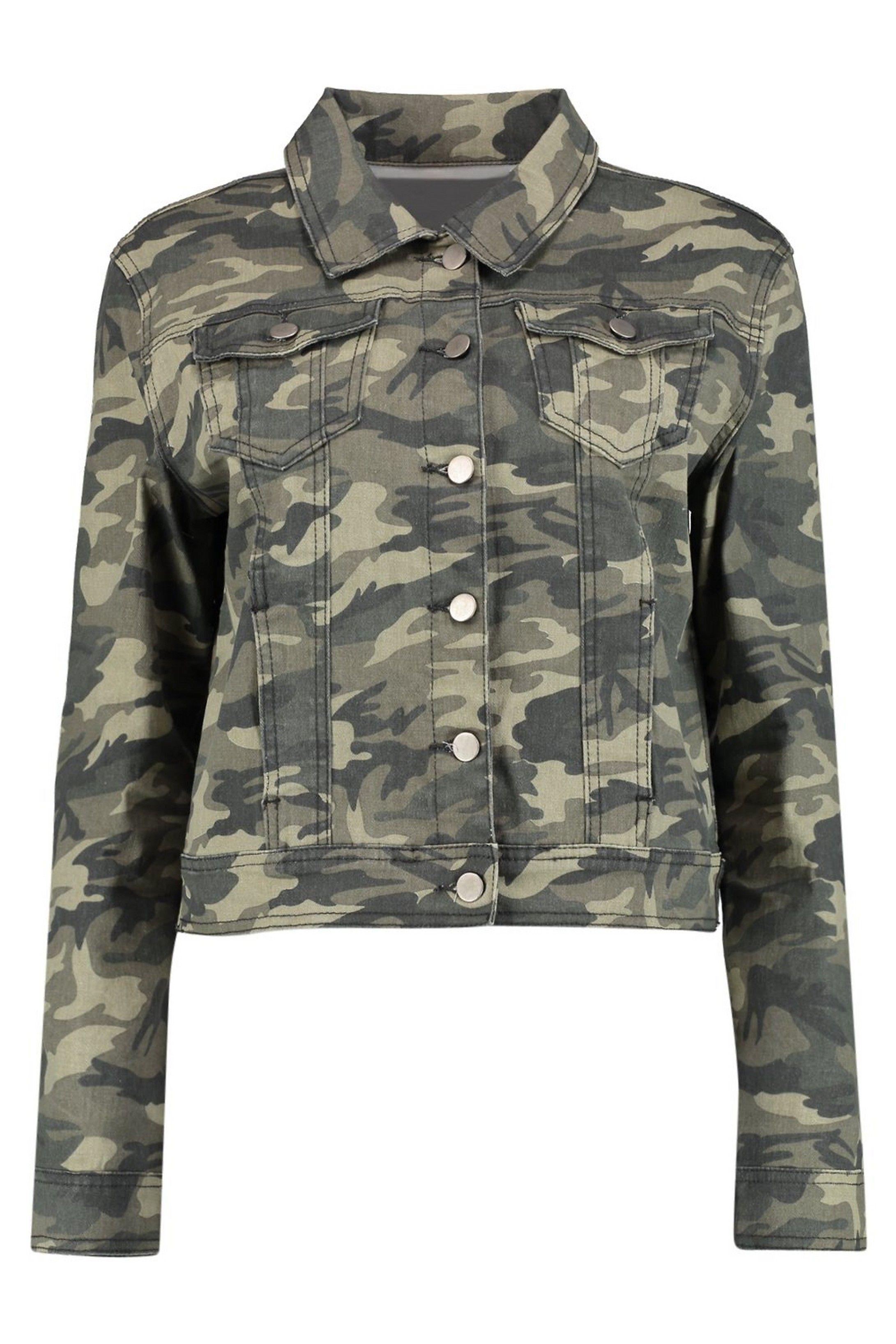 Camouflage Denim Jacket Boohoo Camoflauge Jacket Fitted Denim Jacket Camo Denim Jacket [ 3272 x 2181 Pixel ]