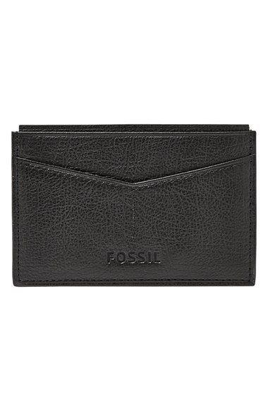 04fd33c06 Fossil 'Omega' Card Case Billeteras, Camilo, Caballero, Carteras, Fósil,