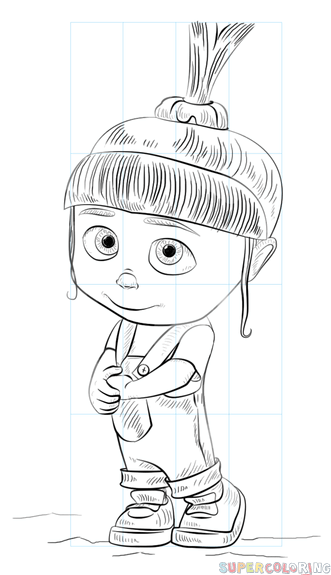 How to draw Agnes from Despicable me step by step. Drawing