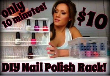 54 best ideas apartment storage hacks nail polish  nail