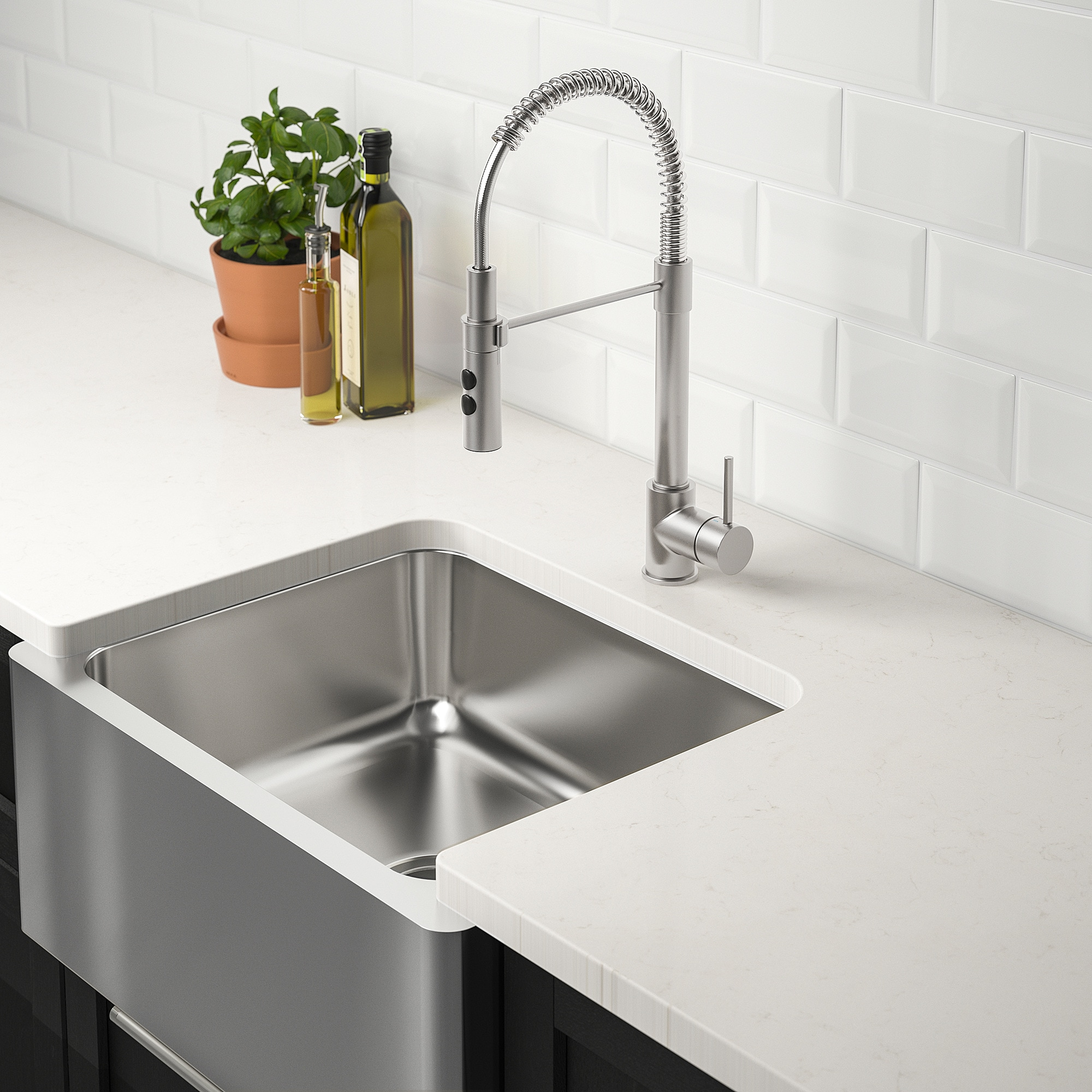 Bredsjon Apron Front Sink Under Glued Stainless Steel 24x18 60 6x45 Cm Apron Front Sink Stainless Steel Apron Front Sink Sink