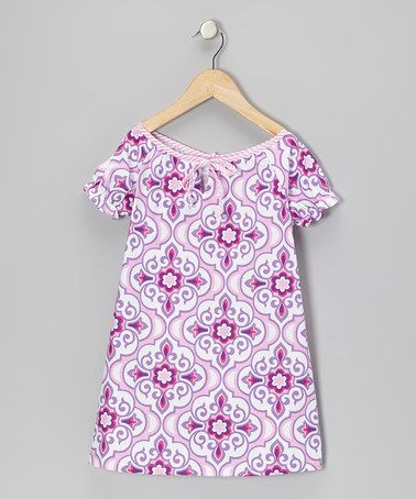 Love the fresh colors and print here. Great style. Lavender Lily Dress - Toddler & Girls by Hippo Hula on #zulily