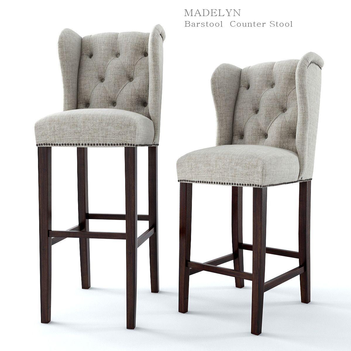 3Ds Max Madelyn Bar Stool   3D Model