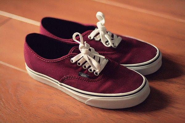 Maroon vans, Shoes, Vans