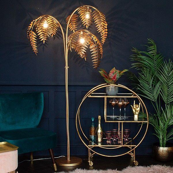 Antique Bronze Palm Leaf Floor Lamp