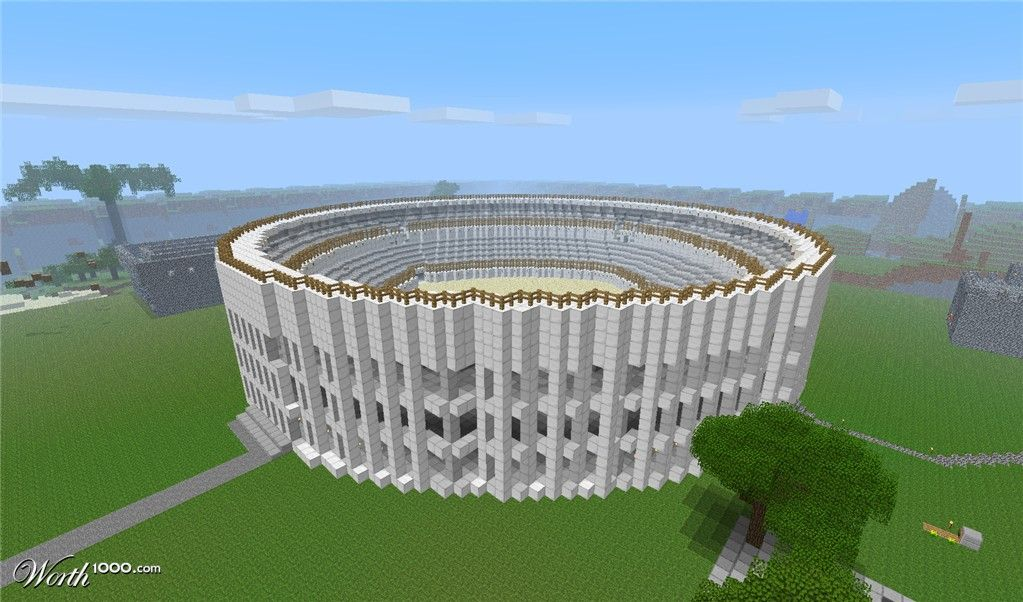 Colosseum style stadium | minecraft | Minecraft, Minecraft
