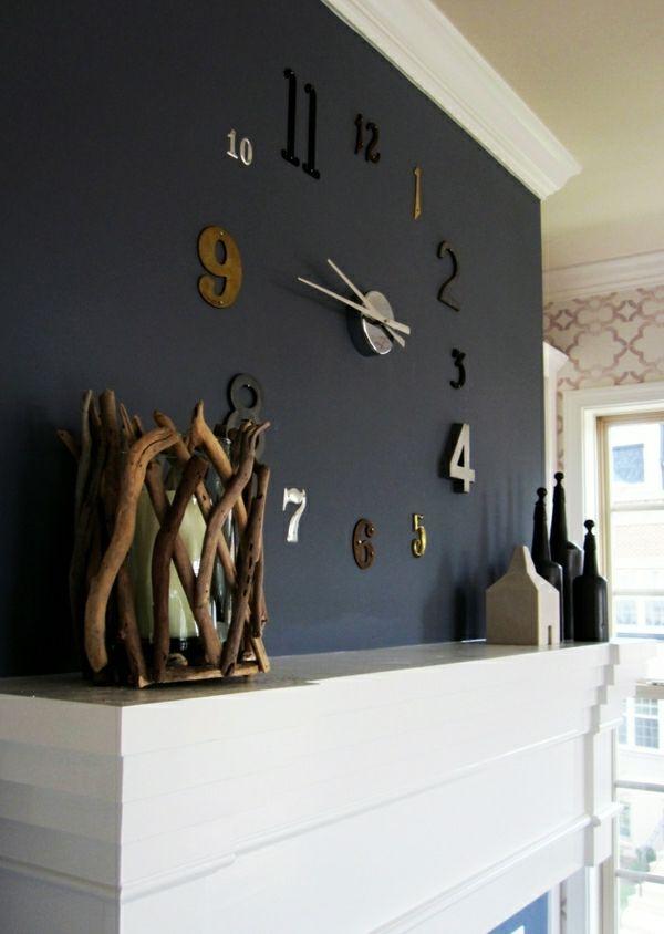 Le horloge design murale moderne - Archzine.fr #wanddekowohnzimmer