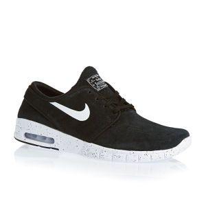 Nike Skateboarding Trainers - Nike Skateboarding Stefan Janoski Max L Trainers - Black/white