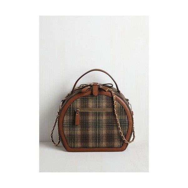 Vintage Inspired Travel Back ($75) ❤ liked on Polyvore featuring bags, handbags, shoulder bags, accessories, multi, weekender, travel shoulder bag, vegan handbags, plaid purse and weekender bag