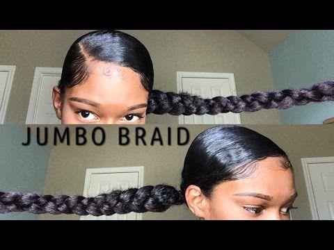jumbo braid ponytail with kanekalon hair back forth hair