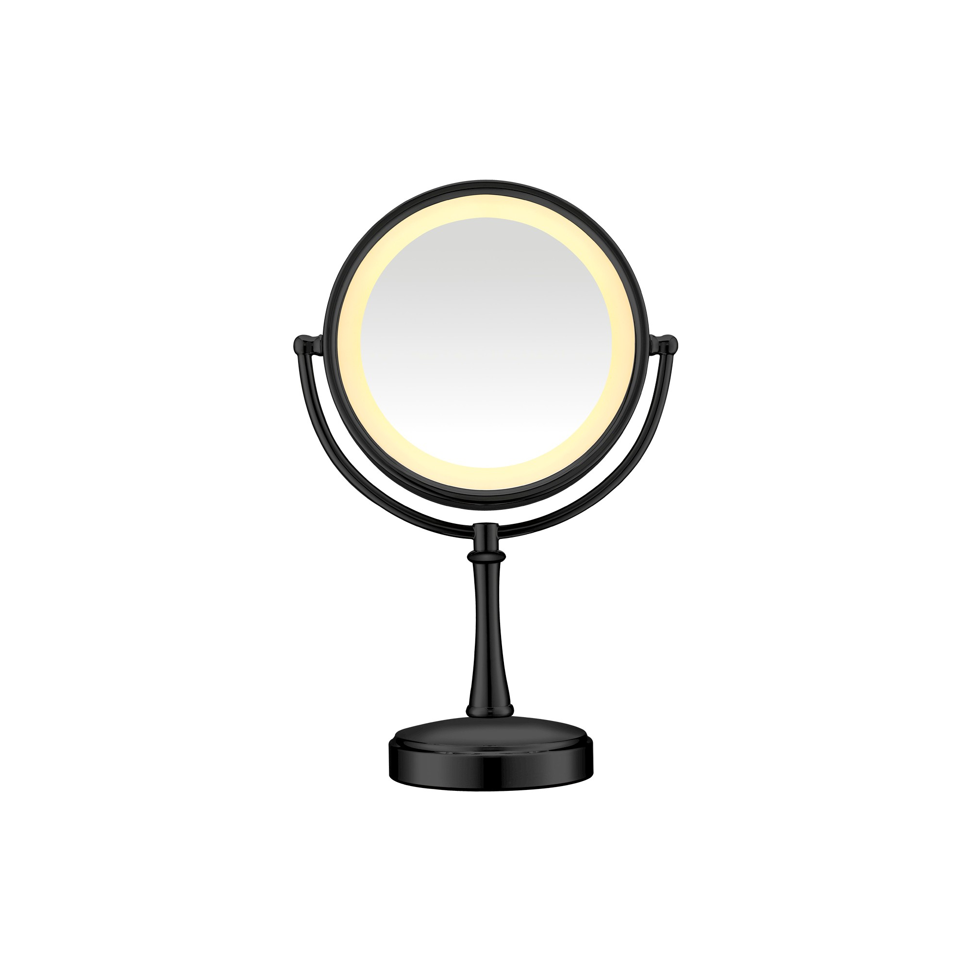Conair Cosmetic Mirror Matte Finish Black Makeup Mirror With