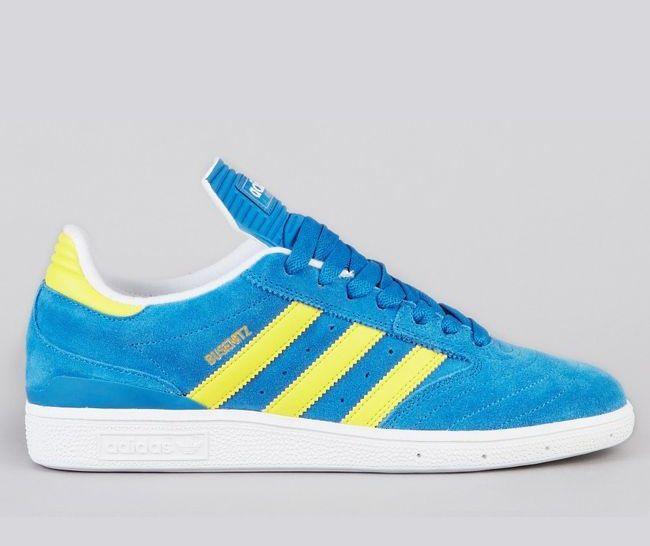 Adidas Skateboarding Busenitz Vulc: azul / amarillo Zapatillas Zapatos