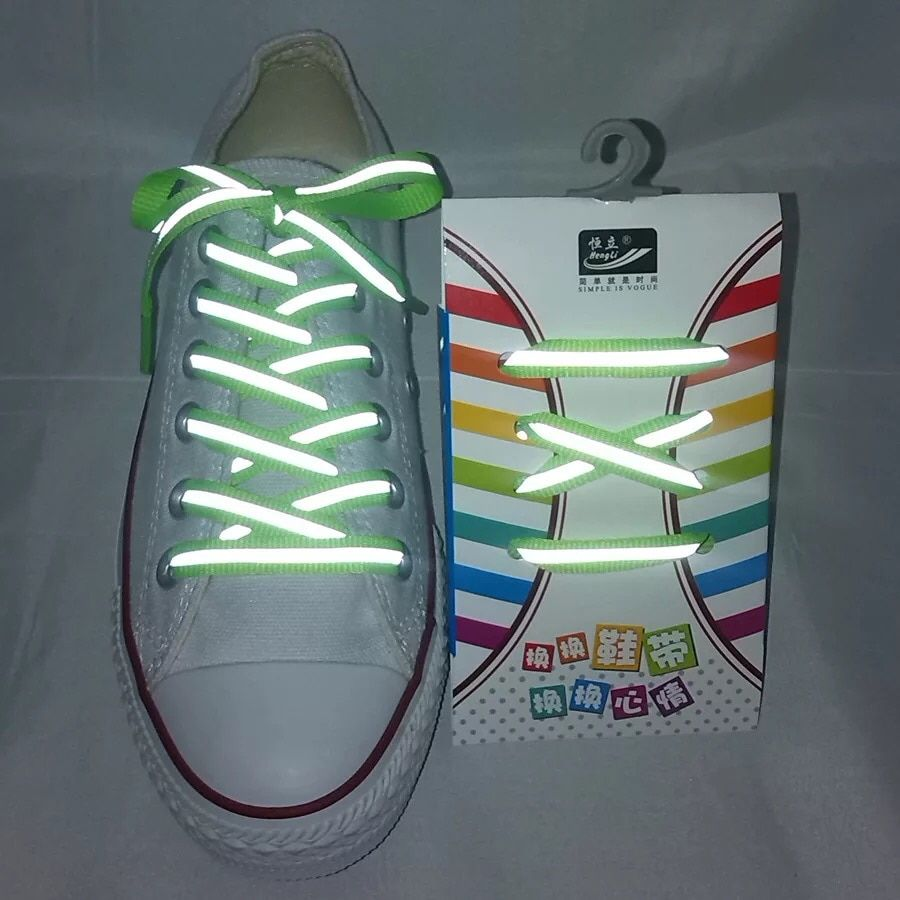 26c5eeb7125ce 1Pair 3M Reflective Shoes lace Flat Sports Shoelaces Fluorescent Sneaker  Shoestrings Running Shoelace For Adult Length 120cm.