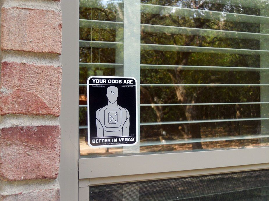 Your Odds Are Better In Vegas Security Window Decals Popular Home - Window decals for home security