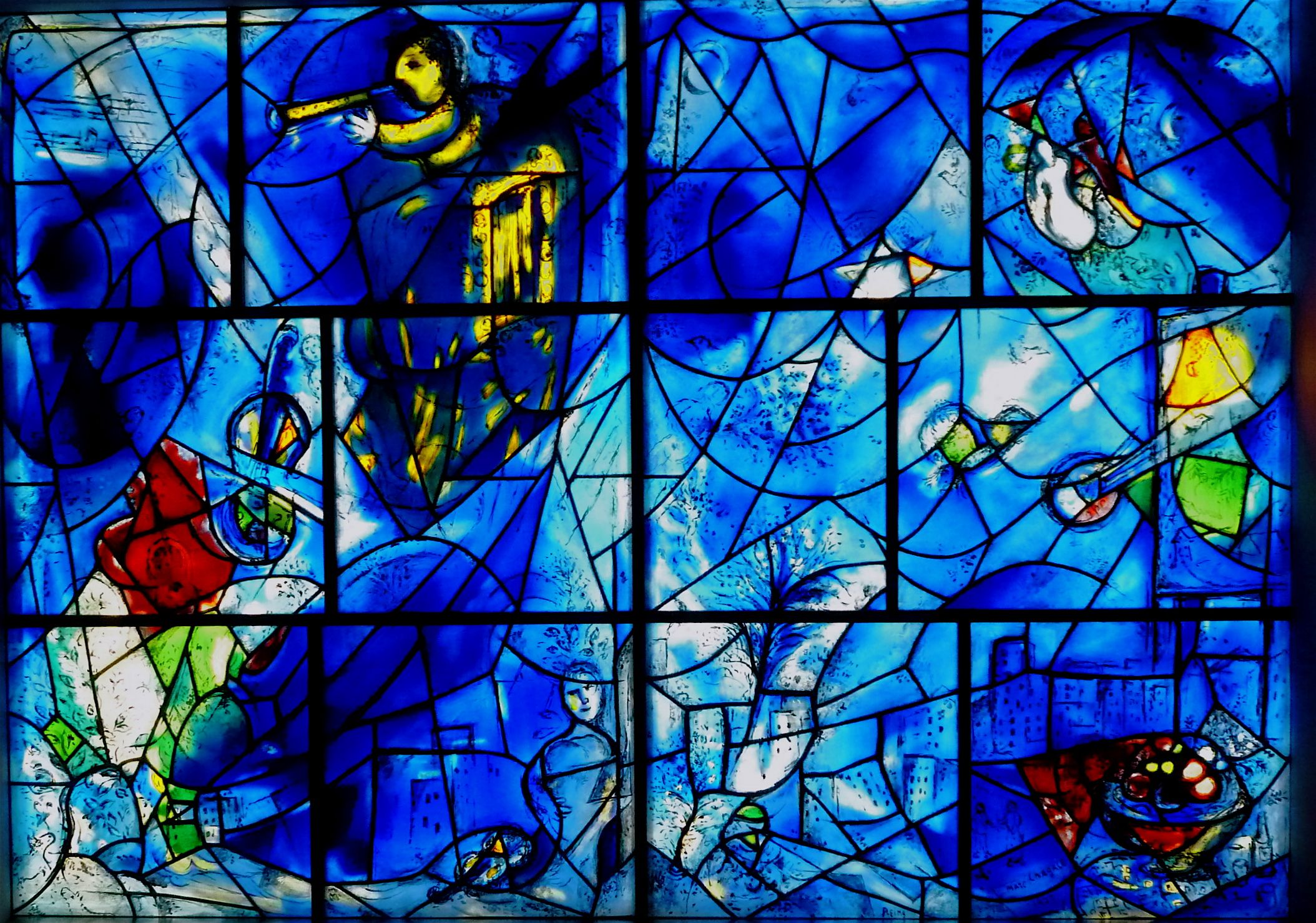 Marc chagall stained glass windows chicago s chagall for Chagall mural chicago
