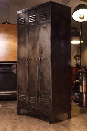 Meuble industriel ancien vestiaire en metal … Meubles