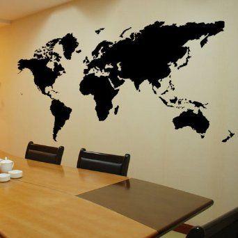Amazon 236 x 1496 diy vinyl wall art decal world map wall amazon 236 x 1496 diy vinyl wall art decal world map gumiabroncs Images