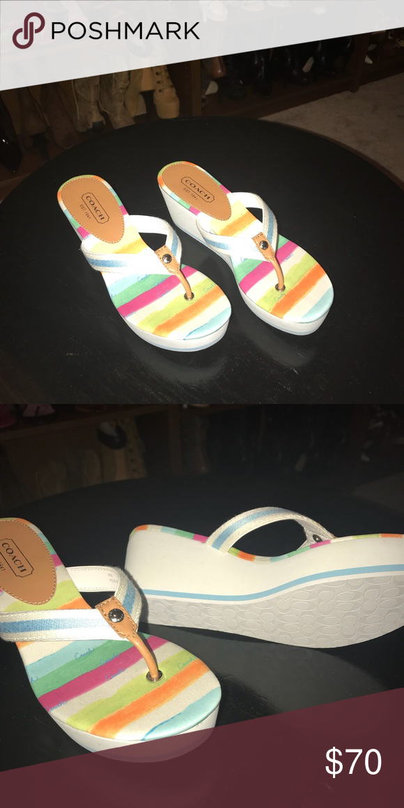 f750700b3c9f 🌟Brand New🌟 Authentic Coach Wedge Sandals NWOT - Coach Wedge Sandals  Coach Shoes Sandals