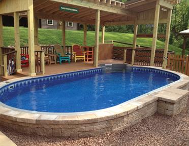 Van Dorn Pools Is Proud To Offer This Semi Inground Pool In York