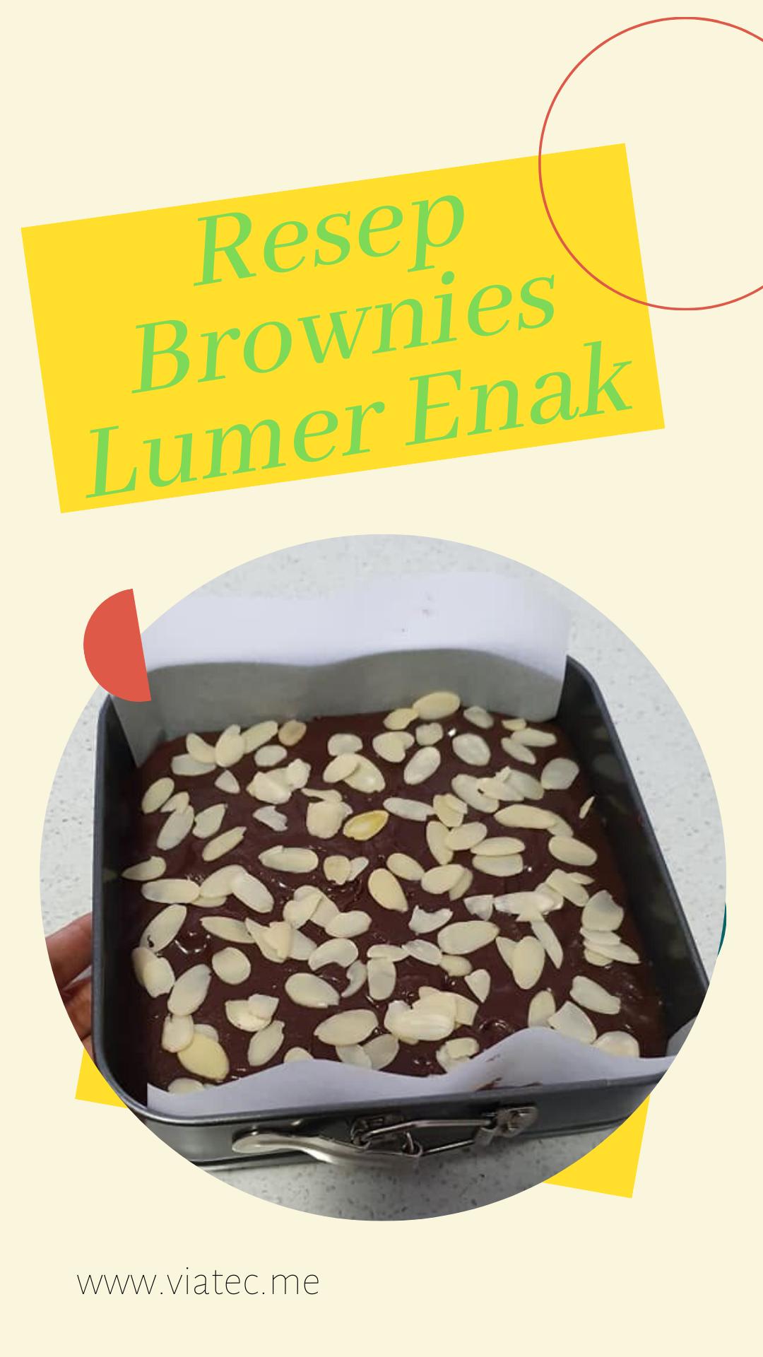 Resep Brownies Coklat Lumer Enak Sederhana Brownies Makanan Coklat