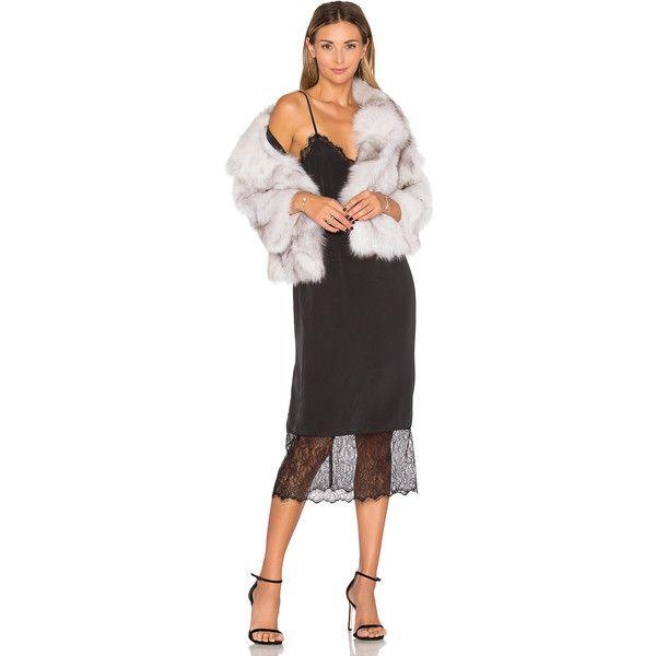 Adrienne Landau Fox Fur Jacket (3,465 ILS) ❤ liked on Polyvore featuring outerwear, jackets, coats & jackets, fox fur jacket and adrienne landau