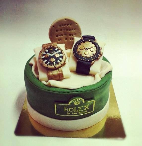 Rolex Watch Designer Theme Birthday Wedding Enement Cakes Cupcakes Mumbai 47