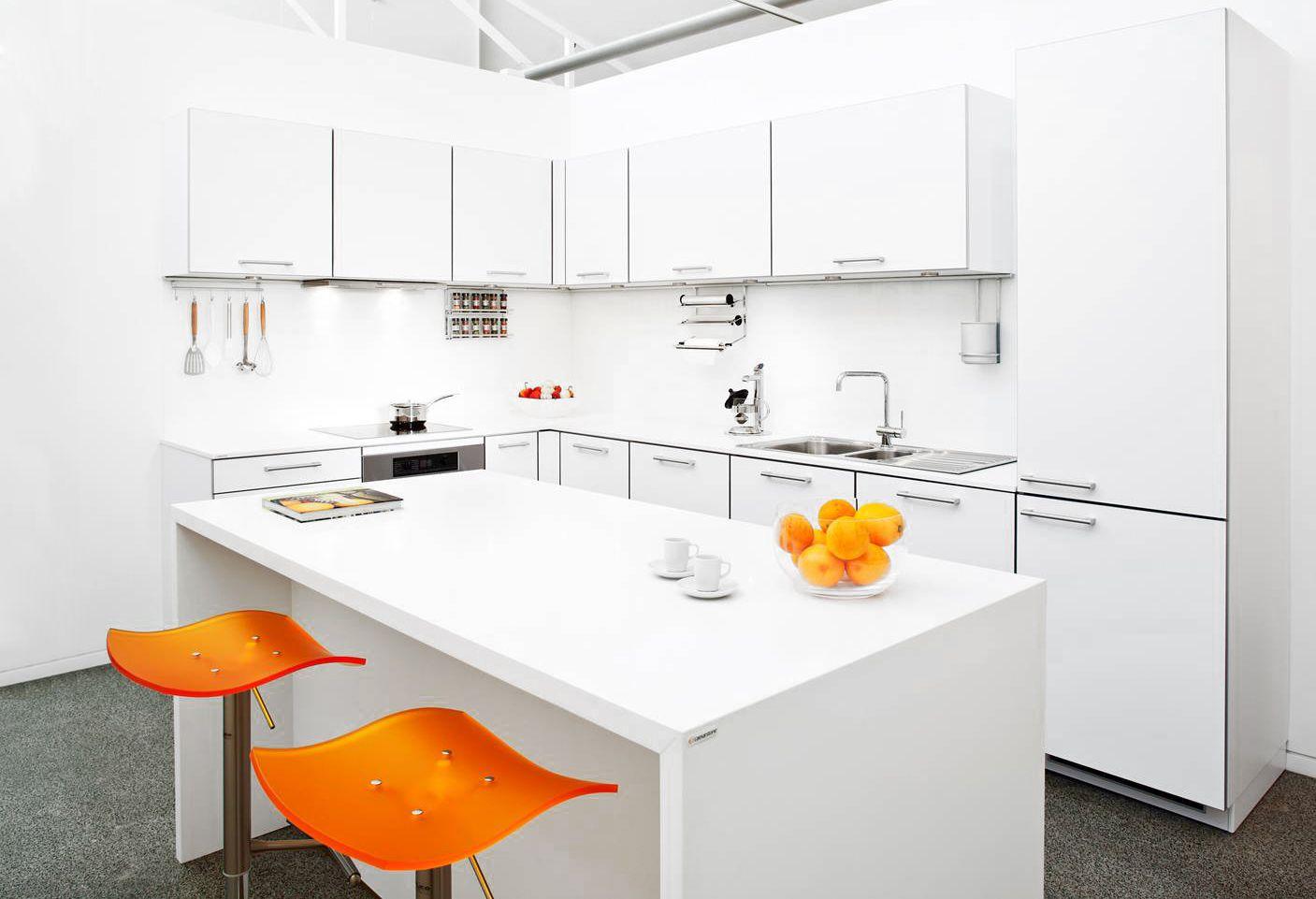 Studio Becker Kitchen Pure White | Caesarstone Kitchens | Pinterest ...