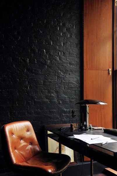 Black Brick - Our Favorite Dark Living Spaces - Photos
