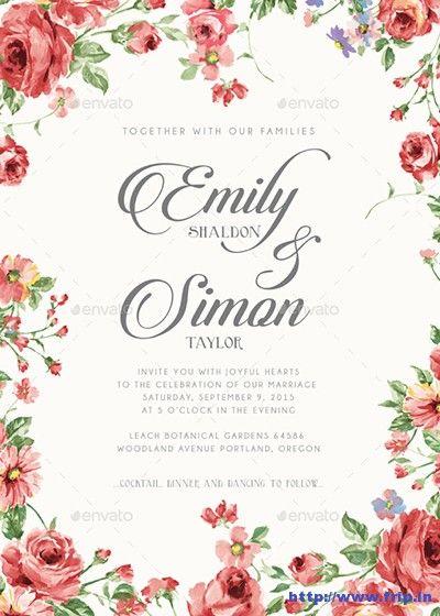 80+ Best Wedding Invitation Card Print Templates 2020