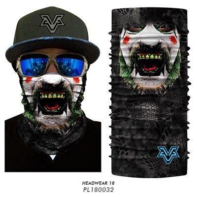 3D Camouflage Balaclava Face Shield SPF Sun Mask Neck Gaiter Hunting Outdoor UV